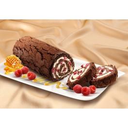 MARLENKA-Roulade mit Kakao und Himbeeren